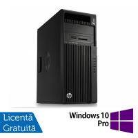 Workstation HP Z440, Intel Xeon Octa Core E5-2630 V3 2.4GHz-3.2GHz, 32GB DDR4 ECC, SSD 512GB , Nvidia Quadro M4000 8GB GDDR5/256 biti + Windows 10 Pro