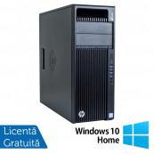 Workstation HP Z440, Intel Xeon Quad Core E5-1620 V3 3.50GHz - 3.60GHz, 16GB DDR4 ECC, 256GB SDD + 4TB HDD, nVidia Quadro K2200/4GB GDDR5 + Windows 10 Home, Refurbished Workstation