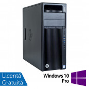 Workstation HP Z440, Intel Xeon Quad Core E5-1620 V3 3.50GHz - 3.60GHz, 16GB DDR4 ECC, 256GB SDD + 4TB HDD, nVidia Quadro K2200/4GB GDDR5 + Windows 10 Pro, Refurbished Workstation