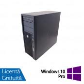 Workstation Refurbished HP Z210, Intel Xeon Quad core E3-1240, 3.3 Ghz-3.70GHz, 4GB DDR3, 500GB HDD, DVD-ROM, nVidia Quadro NVS 300/512MB + Windows 10 Pro Workstation