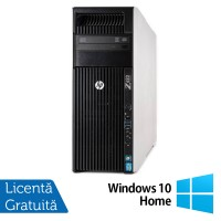 Workstation HP Z620, 1x Intel Xeon E5-1620 3.60GHz-3.80GHz Quad Core 10MB Cache, 32GB DDR3 ECC, 240GB SSD + 1TB HDD, nVidia Quadro 4000/2GB GDDR5 + Windows 10 Home