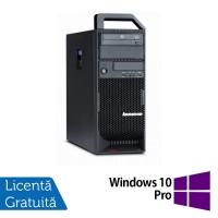 Workstation Lenovo ThinkStation S20 Tower, Intel Xeon Hexa Core X5650 2.66Ghz-3,06GHz, 8GB DDR3, SSD 120GB + 1TB HDD, nVidia NVS 315/1GB, DVD-RW + Windows 10 Pro