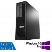 Workstation Lenovo ThinkStation C30 Tower, Intel Xeon E5-2620 V2 2.10 - 2.60GHz Hexa Core, 32GB DDR3, 480GB SSD + 2TB HDD, nVidia Quadro 410/512MB, DVD-RW + Windows 10 Pro, Refurbished Workstation
