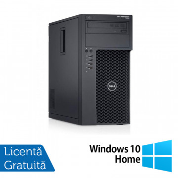 Workstation Dell Precision T1700, Intel Xeon Quad Core E3-1270 V3 3.50GHz - 3.90GHz, 8GB DDR3, 120GB SSD + 1TB SATA, nVidia Quadro 2000/1GB, DVD-RW + Windows 10 Home, Refurbished Workstation