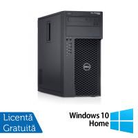 Workstation Dell Precision T1700, Intel Xeon Quad Core E3-1271 V3 3.60GHz - 4.00GHz, 8GB DDR3, 120GB SSD + 1TB SATA, nVidia Quadro K2000/2GB, DVD-RW + Windows 10 Home