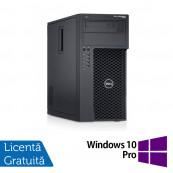 Workstation Dell Precision T1700, Intel Xeon Quad Core E3-1271 V3 3.60GHz - 4.00GHz, 8GB DDR3, 120GB SSD + 500GB SATA, nVidia GT605/1GB, DVD-RW + Windows 10 Pro, Refurbished Workstation