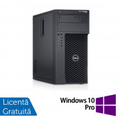 Workstation Dell Precision T1700, Intel Xeon Quad Core E3-1271 V3 3.60GHz - 4.00GHz, 8GB DDR3, 120GB SSD + 500GB SATA, Placa video AMD Radeon HD7350 1GB, DVD-RW + Windows 10 Pro, Refurbished Workstation