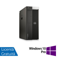 Workstation DELL Precision T5810, Intel Xeon Hexa Core E5-1650 V3 3.50GHz - 3.80GHz, 16GB DDR4 ECC, 240GB SSD, nVidia Quadro 2000 1GB GDDR5 + Windows 10 Home
