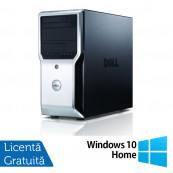 Workstation Dell Precision T1500, Intel Quad Core i7-870 2.93GHz - 3.60GHz, 8GB DDR3, 500GB HDD, AMD FirePro V3900 1GB, DVD-RW + Windows 10 Home, Refurbished Workstation