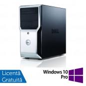 Workstation Dell Precision T1500, Intel Quad Core i7-870 2.93GHz - 3.60GHz, 8GB DDR3, 500GB HDD, AMD FirePro V3900 1GB, DVD-RW + Windows 10 Pro, Refurbished Workstation