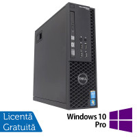 Workstation Dell Precision T1700 SFF, Intel Quad Core i7-4770 3.40GHz - 3.90GHz, 32GB DDR3, 240GB SSD, nVidia Quadro 600/1GB, DVD-RW + Windows 10 Pro