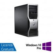 Workstation Dell Precision T3500, Xeon Quad Core W3520 2.66GHz - 2.93GHz, 6GB DDR3, HDD 500GB SATA, DVD-ROM, AMD Radeon HD 7350 1GB GDDR3 + Windows 10 Pro, Refurbished Workstation