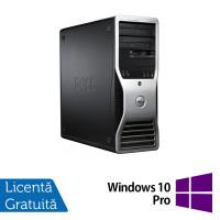 Workstation Dell Precision T3500, Xeon Quad Core W3520 2.66GHz - 2.93GHz, 6GB DDR3, HDD 500GB SATA, DVD-ROM, AMD Radeon HD 7350 1GB GDDR3 + Windows 10 Pro