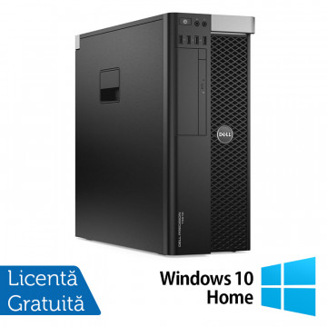 Workstation DELL Precision T3610 Intel Xeon Hexa Core E5-1650 V2 3.50GHz - 3.90GHz, 32GB DDR3 ECC, 240GB SSD + 2TB HDD SATA, Placa Video Nvidia Quadro K4000 3GB/192 Biti + Windows 10 Home, Refurbished Workstation