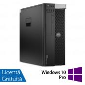 Workstation DELL Precision T3610 Intel Xeon Hexa Core E5-1650 V2 3.50GHz - 3.90GHz, 32GB DDR3 ECC, 240GB SSD + 2TB HDD SATA, Placa Video Nvidia Quadro K4000 3GB/192 Biti + Windows 10 Pro, Refurbished Workstation