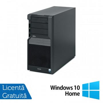 Workstation Fujitsu CELSIUS M470, Intel Xeon Quad Core W3503 2.40GHz, 8GB DDR3, 2 x 500GB SATA, Placa Video nVidia NVS450/512MB, DVD-RW + Windows 10 Home, Refurbished Workstation