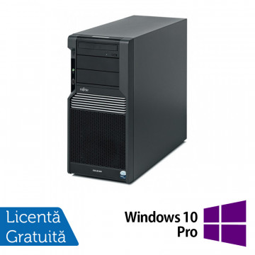 Workstation Fujitsu CELSIUS M470, Intel Xeon Quad Core W3503 2.40GHz, 8GB DDR3, 2 x 500GB SATA, Placa Video nVidia NVS450/512MB, DVD-RW + Windows 10 Pro, Refurbished Workstation