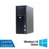 Workstation HP Z200, Intel Core i5-650 3.20GHz - 3.46GHz, 4GB DDR3, HDD 250GB, Intel HD Graphics On-Board, DVD-RW + Windows 10 Home, Refurbished Workstation
