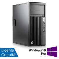 Workstation HP Z230 Tower, Intel Xeon Quad Core E3-1245 v3 3.40GHz-3.80GHz, 16GB DDR3, 1TB SATA, DVD-RW, AMD Radeon HD 7350 1GB GDDR3 + Windows 10 Pro