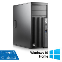 Workstation HP Z230 Tower, Intel Xeon Quad Core E3-1245 v3 3.40GHz-3.80GHz, 8GB DDR3, 500GB SATA, DVR-RW, Video Integrat Intel HD Graphics P4600 + Windows 10 Home