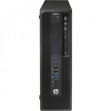 Workstation HP Z240 Desktop, Intel Xeon Quad Core E3-1230 V5 3.40GHz-3.80GHz, 16GB DDR4, SSD 120GB SATA, nVidia K620/2GB, DVD-RW, Second Hand Workstation