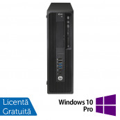 Workstation HP Z240 Desktop, Intel Xeon Quad Core E3-1230 V5 3.40GHz-3.80GHz, 16GB DDR4, SSD 120GB SATA, nVidia K620/2GB, DVD-RW + Windows 10 Pro, Refurbished Workstation
