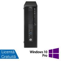 Workstation HP Z240 Desktop, Intel Xeon Quad Core E3-1230 V5 3.40GHz-3.80GHz, 24GB DDR3, SSD 480GB + HDD 4TB SATA, nVidia K620/2GB, DVD-RW + Windows 10 Pro