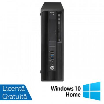 Workstation HP Z240 Desktop, Intel Xeon Quad Core E3-1230 V5 3.40GHz-3.80GHz, 24GB DDR4, SSD 240GB + HDD 2TB SATA, nVidia K620/2GB, DVD-RW + Windows 10 Home, Refurbished Workstation