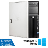 WorkStation HP Z400, Intel Xeon Quad Core W3520 2.66GHz-2.93GHz, 12GB DDR3, 1TB SATA, Placa Video AMD Radeon R7 350, 4GB GDDR5 128-Bit, DVD-RW + Windows 10 Home