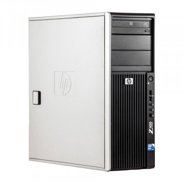 Workstation HP Z400, Intel Xeon Quad Core W3520 2.66GHz-2.93GHz, 12GB DDR3, 1TB SATA, Placa video Gaming AMD Radeon R7 350 4GB GDDR5 128-Bit, DVD-RW, Second Hand Workstation