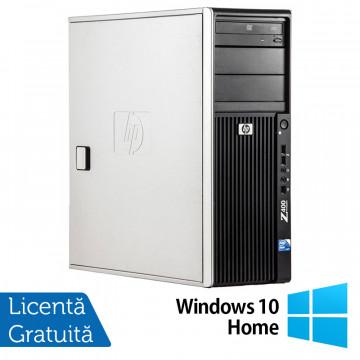 WorkStation HP Z400, Intel Xeon Quad Core W3520 2.66GHz-2.93GHz, 12GB DDR3, 1TB SATA, Placa video Gaming AMD Radeon R7 350 4GB GDDR5 128-Bit, DVD-RW + Windows 10 Home, Refurbished Workstation