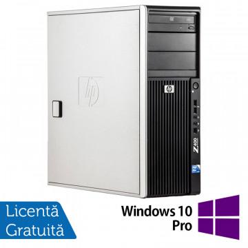 WorkStation HP Z400, Intel Xeon Quad Core W3520 2.66GHz-2.93GHz, 12GB DDR3, 1TB SATA, Placa video Gaming AMD Radeon R7 350 4GB GDDR5 128-Bit, DVD-RW + Windows 10 Pro, Refurbished Workstation