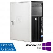 WorkStation HP Z400, Intel Xeon Quad Core W3520 2.66GHz-2.93GHz, 8GB DDR3, 500GB SATA, AMD Radeon HD 7350 1GB GDDR3, DVD-RW + Windows 10 Pro, Refurbished Workstation
