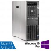 Workstation HP Z600, 2 x CPU Intel Xeon Quad-Core E5504 2.0GHz, 8GB DDR3, 2 x SSD 120GB, nVidia Quadro NVS 315 1GB DDR3 + Windows 10 Pro, Refurbished Workstation