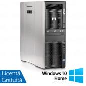 Workstation HP Z600, Intel Xeon Quad Core E5540 2.53GHz-2.80GHz, 8GB DDR3 ECC, 1TB SATA, AMD Radeon HD 7350 1GB GDDR3 + Windows 10 Home, Refurbished Workstation