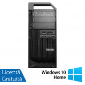 Workstation Lenovo ThinkStation D30 Tower, Intel Xeon Hexa Core E5-2620 2.00GHz-2.50GHz, 16GB DDR3, 120GB SSD + HDD 2TB SATA, AMD Radeon HD 7350 1GB GDDR3 + Windows 10 Home, Refurbished Workstation
