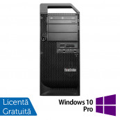 Workstation Lenovo ThinkStation D30 Tower, Intel Xeon Hexa Core E5-2620 2.00GHz-2.50GHz, 16GB DDR3, 120GB SSD + HDD 2TB SATA, AMD Radeon HD 7350 1GB GDDR3 + Windows 10 Pro, Refurbished Workstation