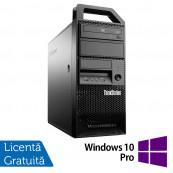 Workstation Lenovo ThinkStation E31 Tower, Intel Core i5-3330 3.00GHz-3.20GHz, 24GB DDR3, 240GB SSD + 2TB HDD, Placa video Gaming AMD Radeon R7 350 4GB GDDR5 128-Bit + Windows 10 Pro, Refurbished Workstation