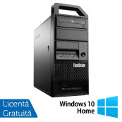 Workstation Lenovo ThinkStation E31 Tower, Intel Core i5-3550 3.30GHz-3.70GHz, 8GB DDR3, 180GB SSD, nVidia Quadro NVS310/512MB, DVD-ROM + Windows 10 Home, Refurbished Workstation