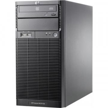Server HP ProLiant ML110 G6 Tower, Intel Xeon Quad Core X3430 2.40GHz, 8GB DDR3, 1 TB SATA, DVD-ROM, PSU 300W Servere second hand