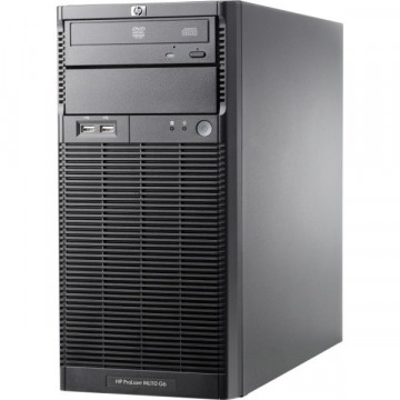 Server HP ProLiant ML110 G6 Tower, Intel Xeon Quad Core X3430 2.40GHz, 8GB DDR3, 2 x 2TB SATA, DVD-ROM, PSU 300W Servere second hand