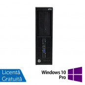 Workstation Refurbished HP Z230 Desktop, Intel Xeon Quad Core E3-1230 v3 3.30GHz-3.70GHz, 8GB DDR3, HDD 500GB SATA, DVR-RW, Placa video ATI FirePro V3900/1GB + Windows 10 Pro Workstation