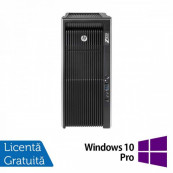 Workstation Refurbished HP Z820, 2x Intel Xeon E5-2660 V2 2.20GHz-3.00GHz DECA Core, 64GB DDR3 ECC, 2TB HDD + 240GB SSD, nVidia Quadro K2200 4GB GDDR5, 128-BIT + Windows 10 Pro Workstation