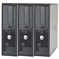 Pachet 3 x Calculator Dell Optiplex 380 SFF, Intel Celeron E3300 2.5Ghz, 2GB DDR3, 160GB HDD, DVD-ROM