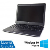 Laptop DELL Latitude E7240, Intel Core i7-4600U Generatia a 4-a 2.10GHz, 8GB DDR3, 256GB SSD + Windows 10 Home Laptopuri Refurbished