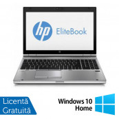 Laptop HP EliteBook 8570p, Intel Core i5-3320M 2.60GHz, 4GB DDR3, 320GB SATA, DVD-RW + Windows 10 Home Laptopuri Refurbished