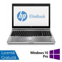 Laptop HP EliteBook 8570p, Intel Core i5-3320M 2.60GHz, 4GB DDR3, 320GB SATA, DVD-RW + Windows 10 Pro