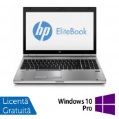 Laptop HP EliteBook 8570p, Intel Core i5-3320M 2.60GHz, 8GB DDR3, 320GB SATA, DVD-RW + Windows 10 Pro, Refurbished Laptopuri Refurbished