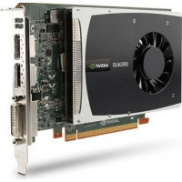 Placa video PCI-E NVIDIA Quadro2000 1 GB GDDR5-128bit, DVI 2 x DisplayPort, P/N: 02PNXF, second hand