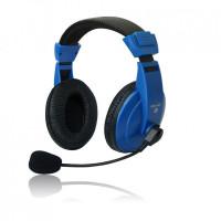 Set MSONIC casti microfon stereo, Albastru